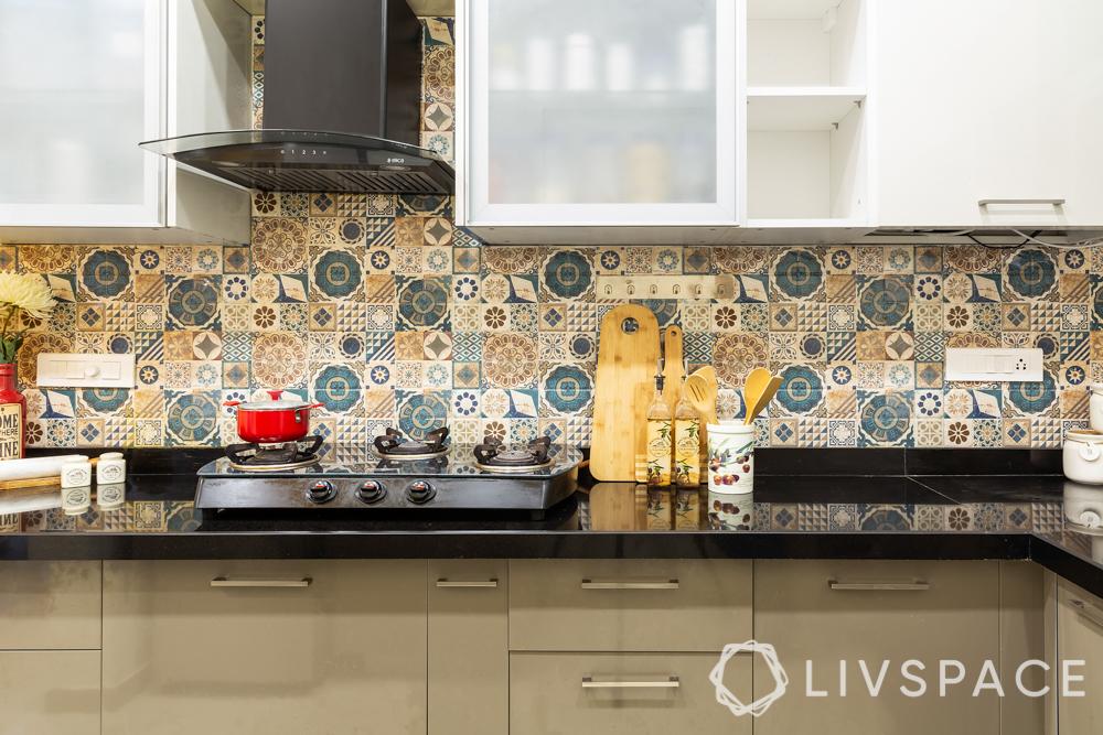 pune interior design-kitchen backsplash-moroccan tiles
