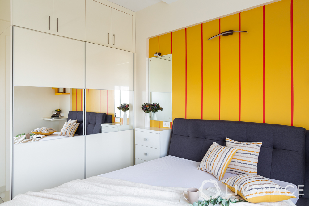 pune interior design-parents room-dresser-wall paint